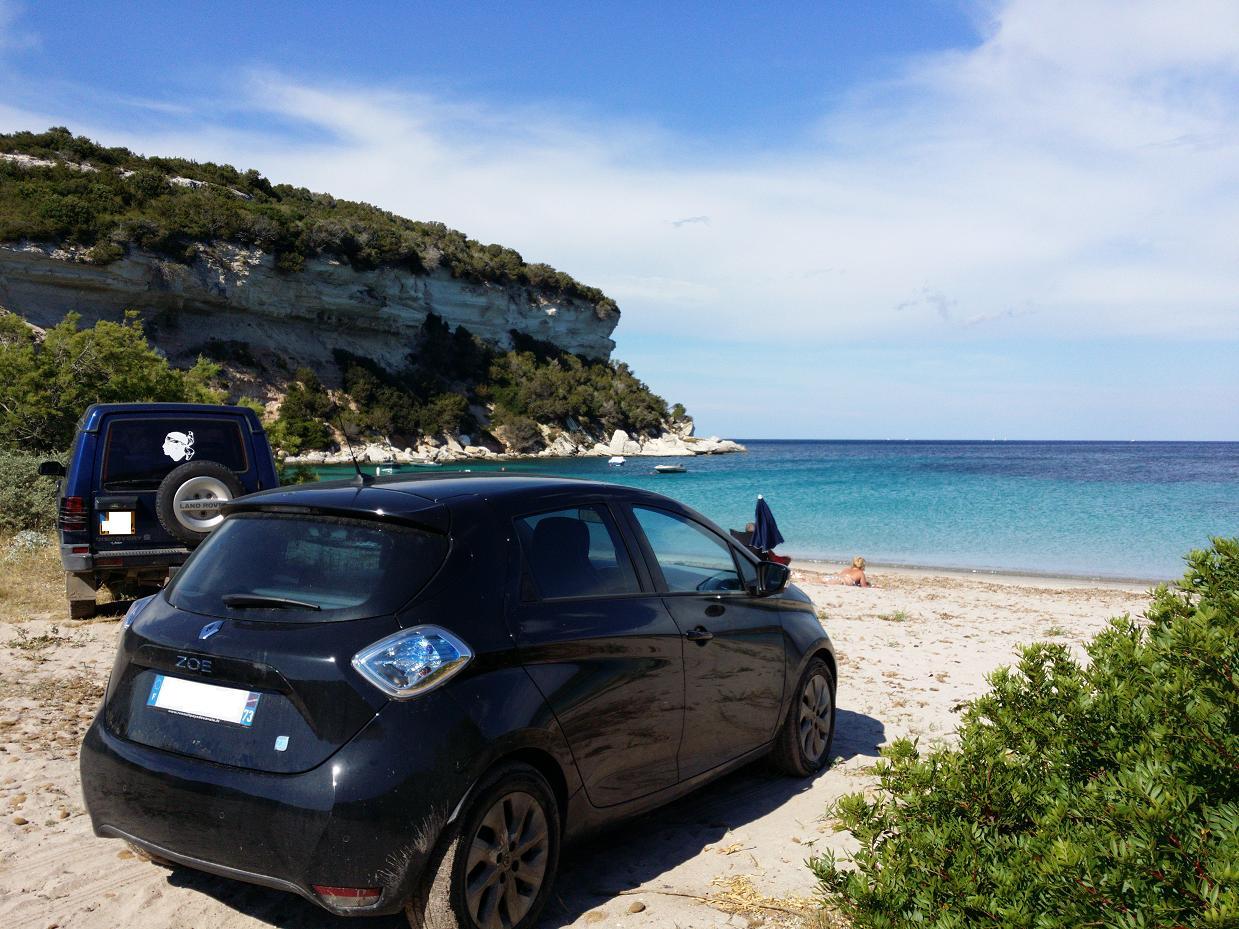 Je suis parti en Corse depuis Annecy avec ma ZoE (647km dans la journée) - Page 2 ZOEPLAGE